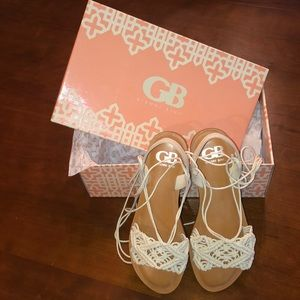 NWT and box lace up  knit sandals